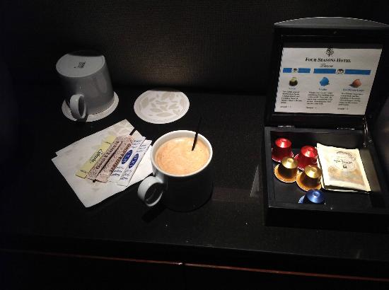 Four Seasons Hotel Denver: In-room espresso