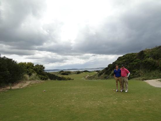 Lost Farm Barnbougle Golf Course: With nephew on #14