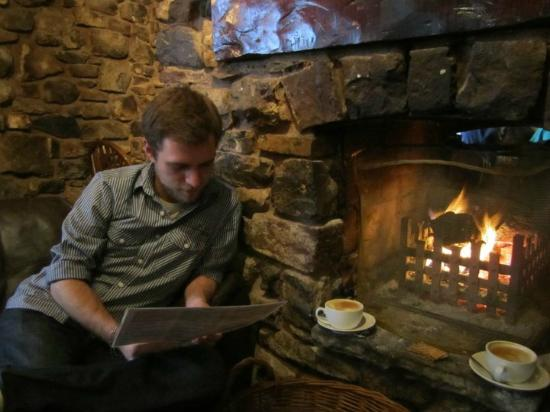 The White Hart: In front of the fire