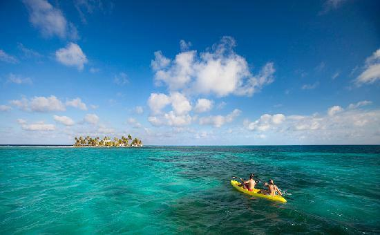 Thatch Caye Resort: Enjoy unlimited use of kayaks and explore the azure waters surrounding Thatch Caye