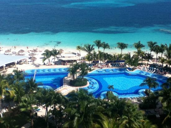 Hotel Riu Caribe : vue de la chambre 949