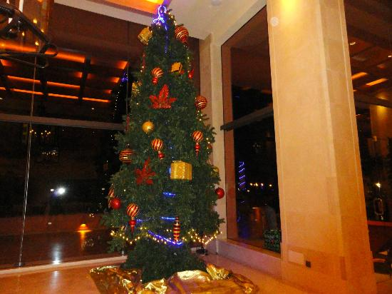 Sheraton La Caleta Resort & Spa, Costa Adeje, Tenerife: Christmass tree in the lobby.