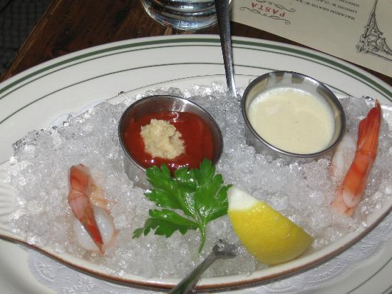 Miramar Bistro: Giant shrimp cocktail