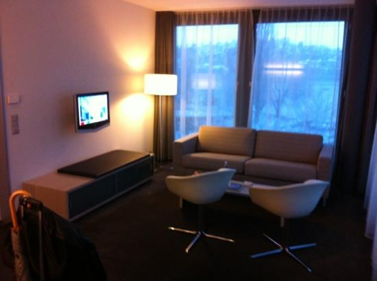 Radisson Blu Hotel, Lucerne: Living room Junior Suite