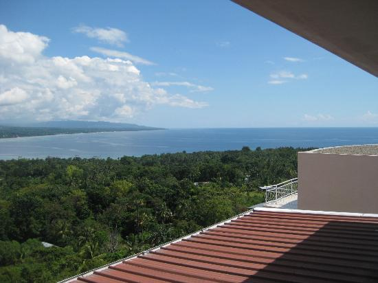 Bohol Vantage Resort: View of the sea from the restaurant