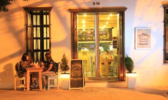 La Placita Burger Bar: La Placita at night!