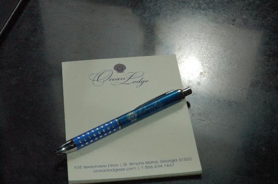 Ocean Lodge Notepad and pen