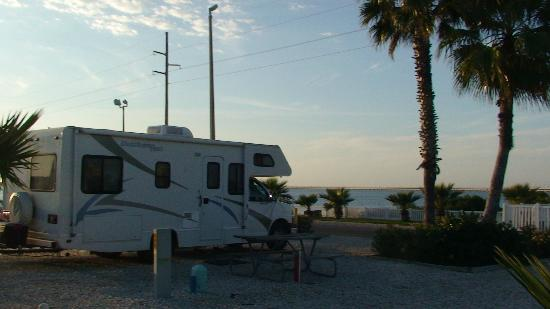 South Padre Island KOA: View from first site we had.