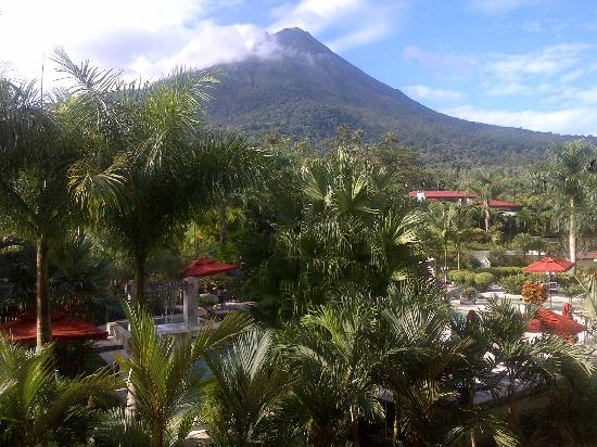 The Royal Corin Thermal Water Spa & Resort: A rare moment when the peak of Arenal is clear