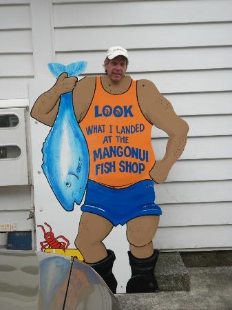 Mangonui Fish Shop: Fun outside the cafe