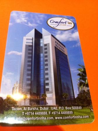 Golden Tulip Thanyah Hotel Apartments: room key