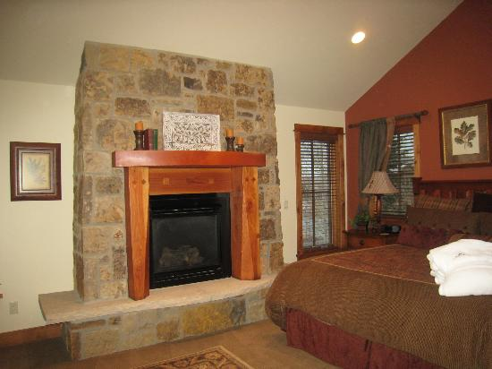 The Porches: Fireplace in Master
