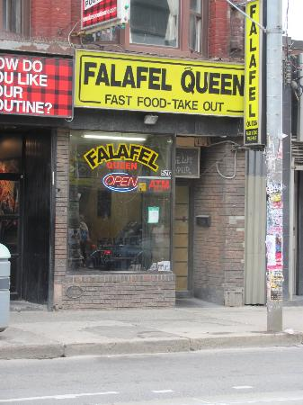 Photo of Middle Eastern Restaurant Falafel Queen at 576 Queen St W, Toronto M5V 2B5, Canada