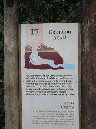 Abraao Cove: Placa na entrada da gruta