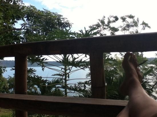 Apoyo Lodge: Private Deck View