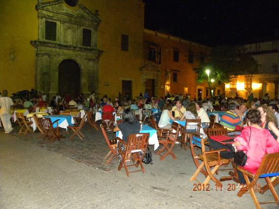 Decameron Cartagena: old city at night
