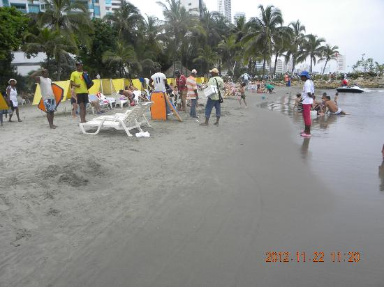 Decameron Cartagena: beach in front of hotel