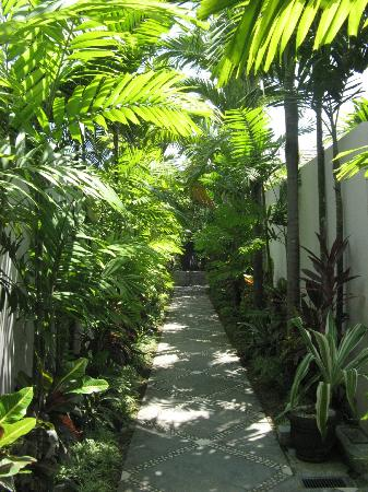 Bhavana Private Villas: Garden walk to the villas