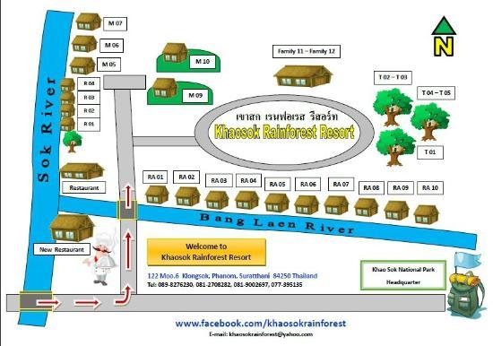 Khaosok Rainforest Resort: Hotel Layout