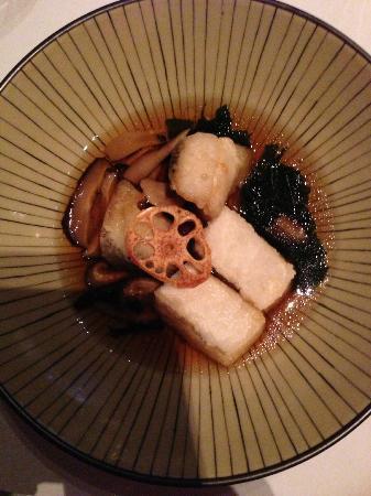 Nine Fine Food Modern Japanese: Argentian Toothfish broth with tofu