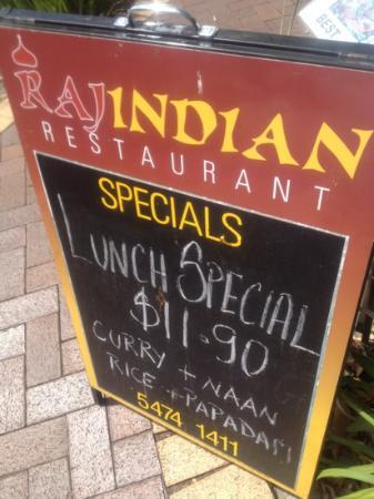 ‪‪Raj Indian Restaurant‬: lunch special
