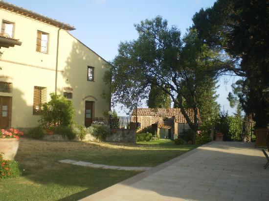 I Moricci: vue jardin de la terrasse