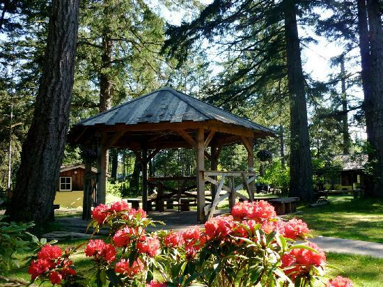 Timberlane Beach Resort: the gazebo leading to the hottub