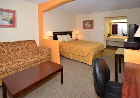 Rodeway Inn & Suites: Spacious suite with sofa sleeper
