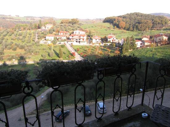 Palazzo Brandano: A view north from Room Botticeli.