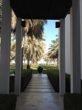 The Chedi Muscat – a GHM hotel: the entrance to the hotel guest area