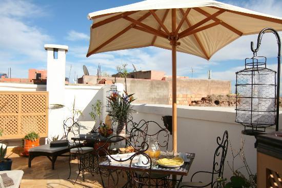 Riad Villa Mouassine: Terrasse