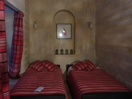 Riad Dar El Masa: 私が泊った部屋 一人でしたがツインの割り当て