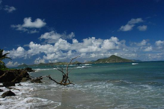 Nisbet Plantation Beach Club: View of St Kitts from beach
