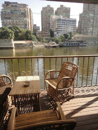 Nile Houseboat B&B: View from the balcony of suite 4.