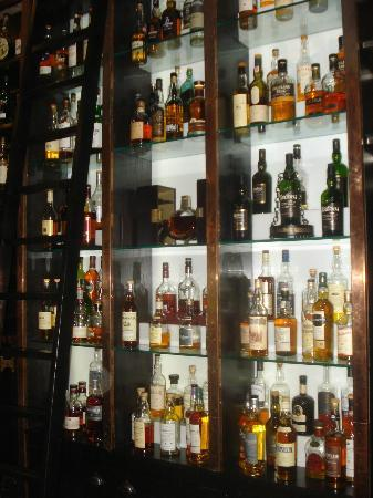 Cameron House on Loch Lomond: the whiskey wall