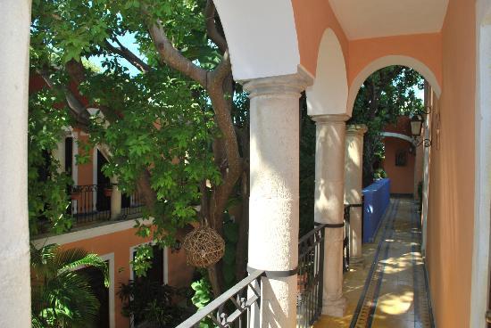 Hotel Casa de las Flores Playa del Carmen: corridoio esterno primo piano