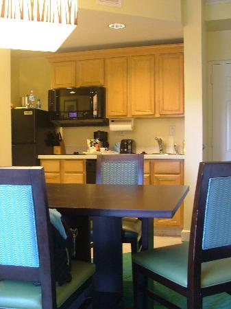 Atlantis - Harborside Resort: Our kitchen area.