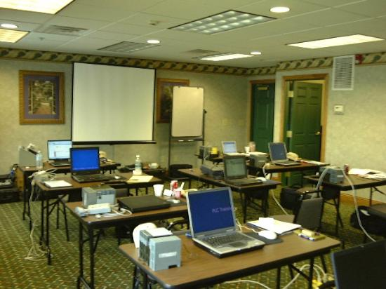 Country Inn & Suites By Carlson: Overview of meeting room for PLC training seminar