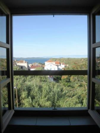 Susak Sansego: View from the bedroom House 612