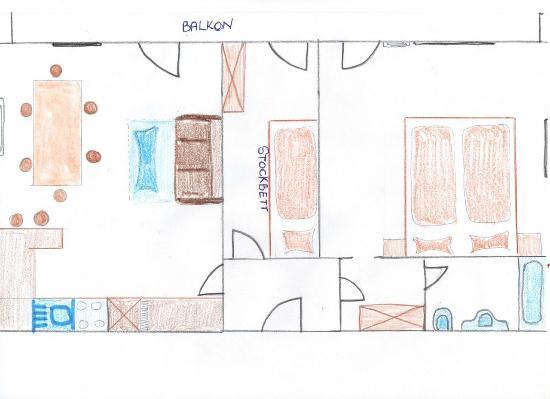 Haus Romanelli: Grundriss Apartment Zentrum