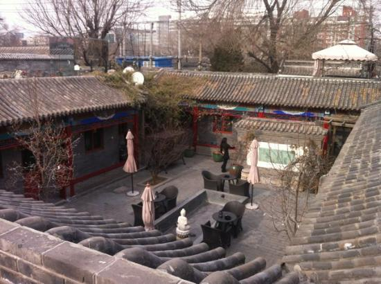 Hotel Cote Cour Beijing: Terrace with great view on hutong