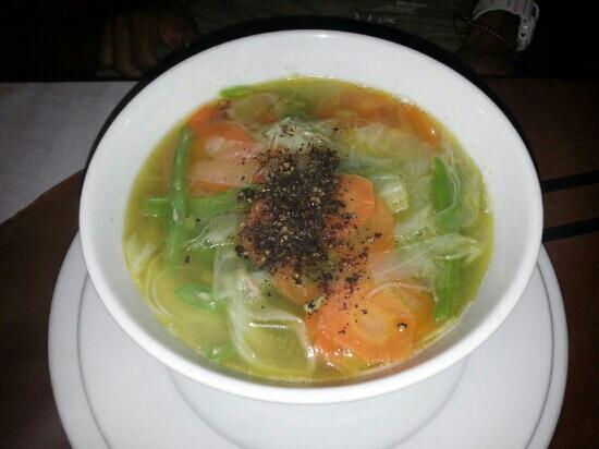 TinTin Restaurant : soupe de pattes aux crevettes