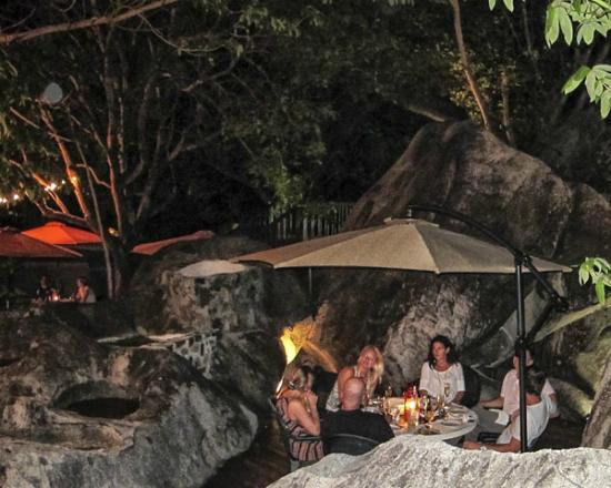Rock Cafe, Outdoors, Table set among the Boulders