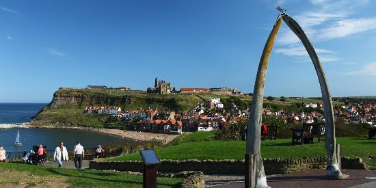 Harbour View Cafe: Whitby Abbey and the famous whalebones