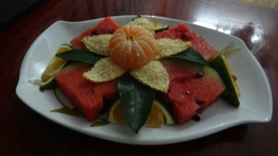 Hai Au Boutique hotel and spa: Complimentary fruit platter