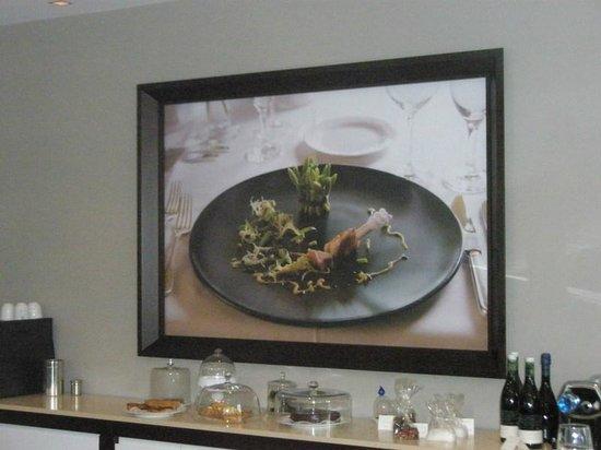 """Mühlberger Restaurant: Appetitliches Foto im """"Mühlberger"""" - dahinter verbirgt sich eine MultiMedia-Wand ..."""