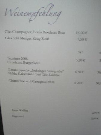 Mühlberger Restaurant: Super gute Weine & Co.