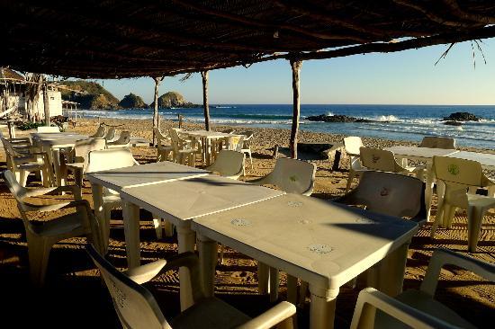 Zipolipas restaurant y Bar: Vista del Playa Zipolite
