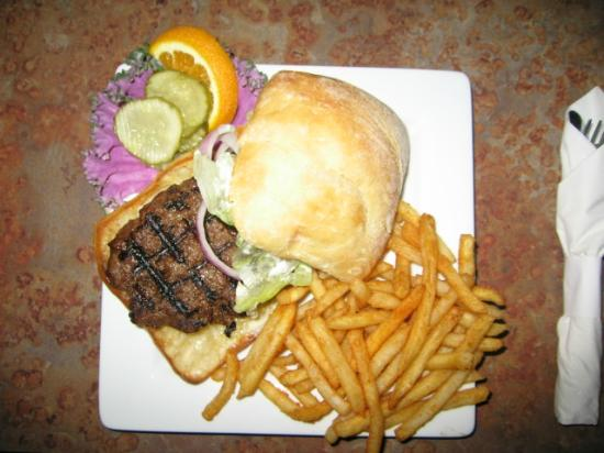 Lightship Restaurant: Bison Burger!