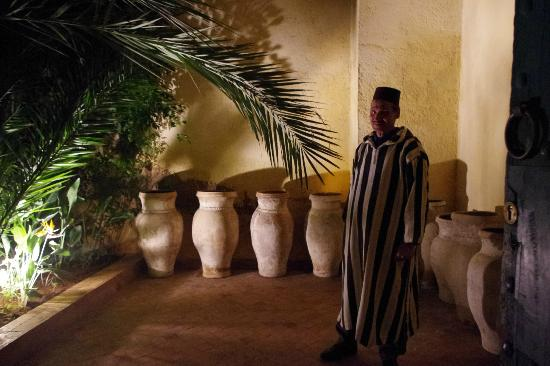 Fez Cafe at Le Jardin Des Biehn: The doorman (and the entrance)